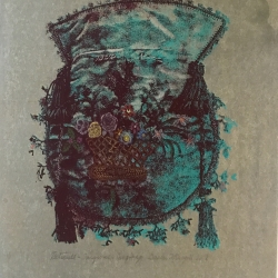 Susan Fothergill - Reticule:- Turquoise and Burgundy