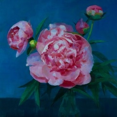 Caroline Ji - Peonies in Blue