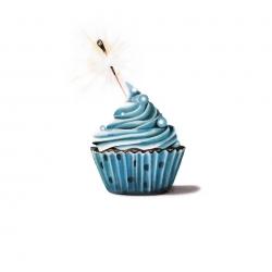 Erin Rothstein - Tasting Room: Blue Cupcake with Sparkler