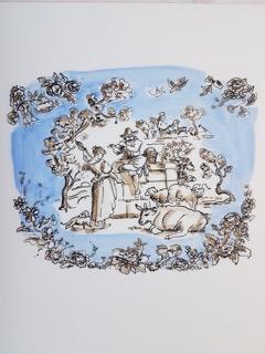 Blue Toille 1 by Jennifer Wardle