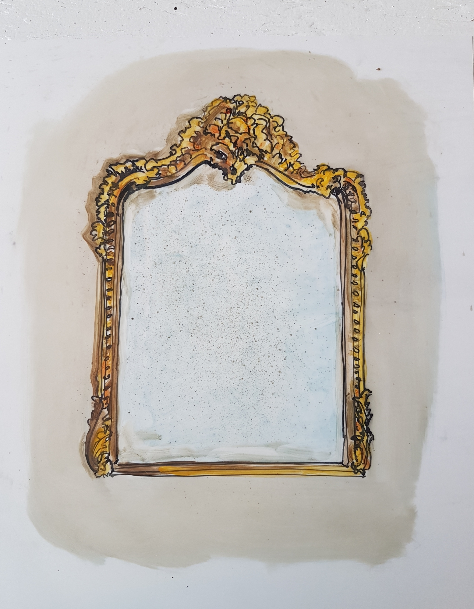 Antique Mirror 2 by Jennifer Wardle