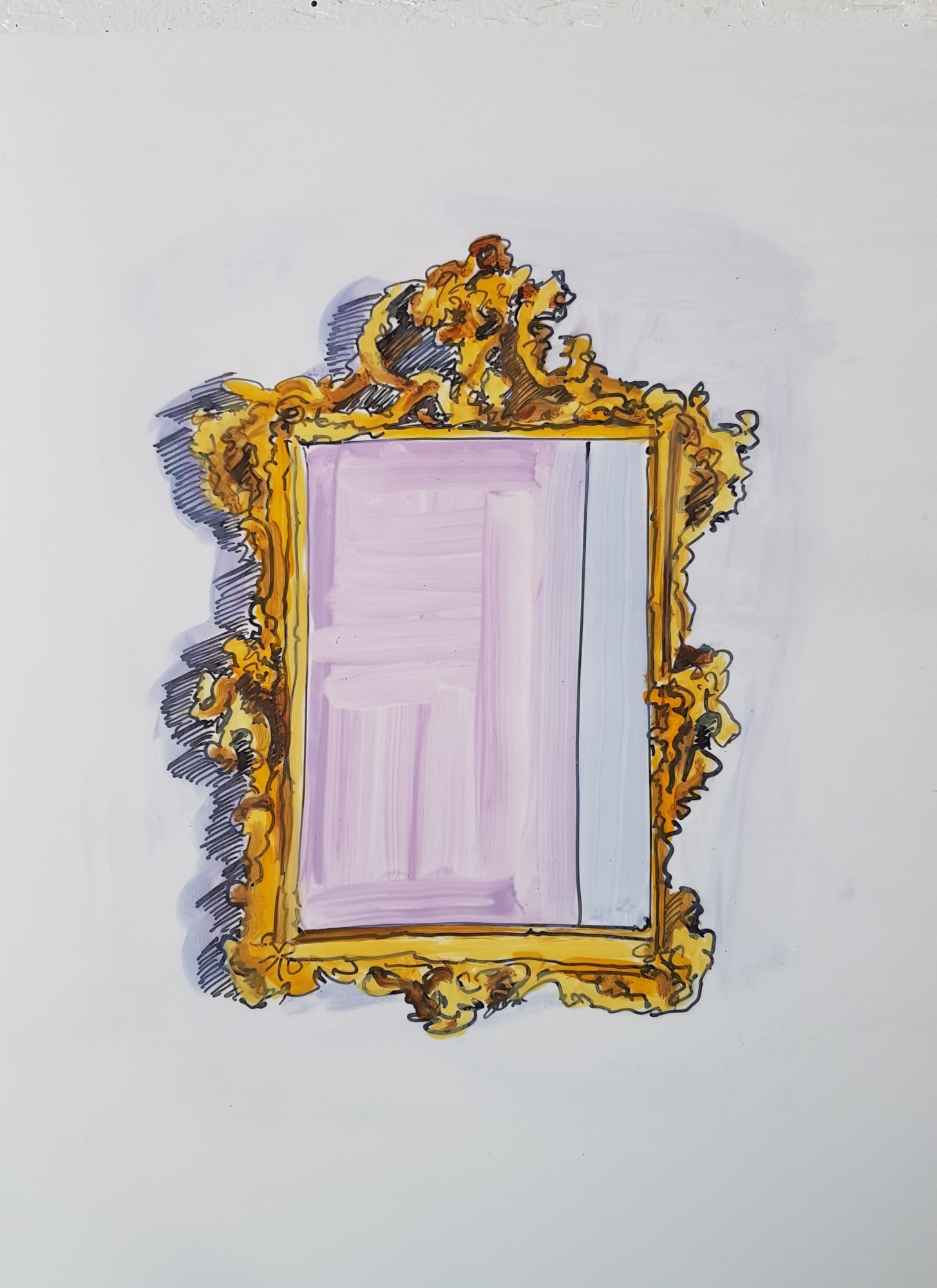 Antique Mirror 3 by Jennifer Wardle