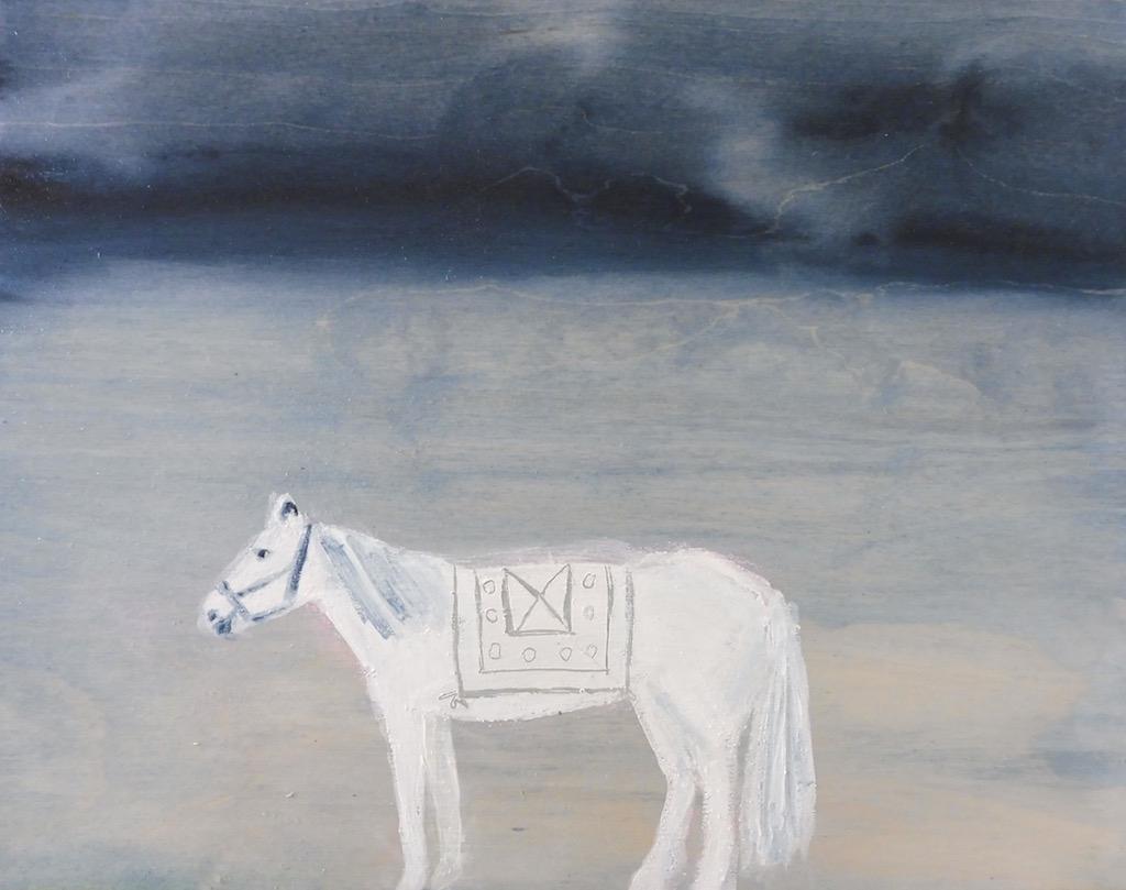 White horse  by Julie Davidson Smith