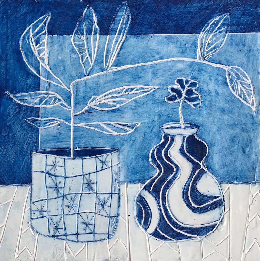 Blue Botanical #2 by Julie Davidson Smith