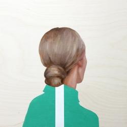 Marina  Nazarova - Girl in Green Shirt with White Stripe