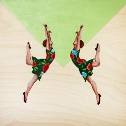 Marina  Nazarova - Dancers in Flowery Dresses