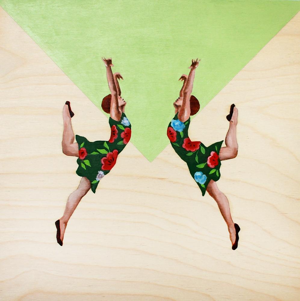 Dancers in Flowery Dresses  by Marina  Nazarova