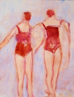 Sisters Swim  by Susan McLean Woodburn
