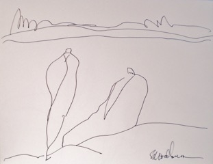 Bathers 2 by Susan McLean Woodburn
