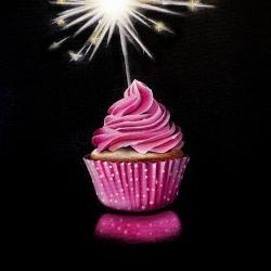 Erin Rothstein - Tasting Room: Pink Cupcake with Sparkler