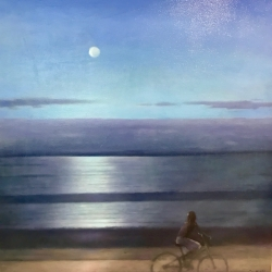 Greg Nordoff - Cyclist and the Moon