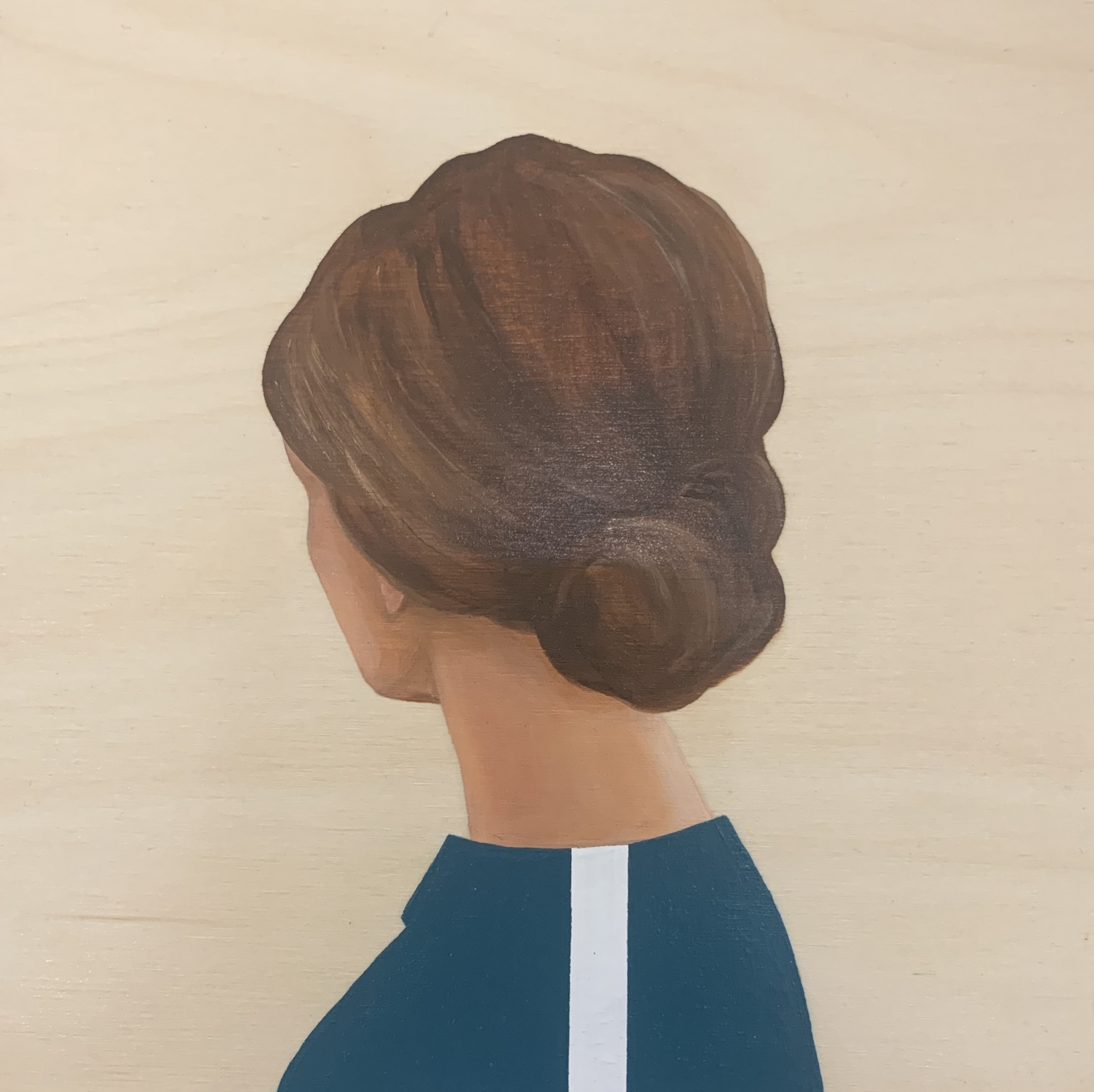 Lady in Turquoise with stripe  by Marina  Nazarova