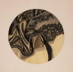 Little Black Bra Detail #5 by Kaitlin  Mason