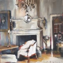 Hanna Ruminski - Sitting Room with Fireplace