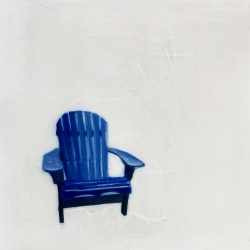 EM Vincent - Blue Deck Chair