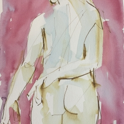 Mel Delija - Nude Left Hand on Back