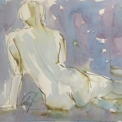 Mel Delija - Seated Nude III