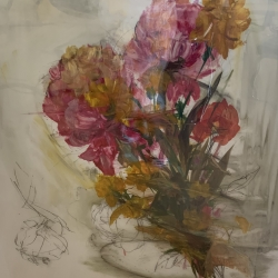 Madeleine Lamont - Large Floral Pink and Yellow