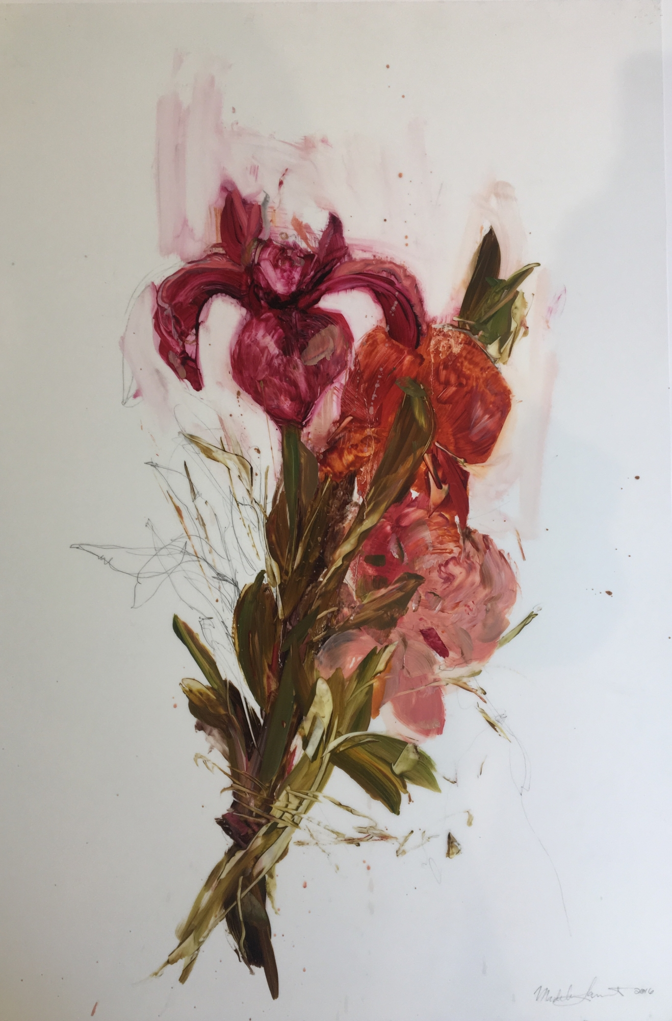 Pink Bouquet 2016  by Madeleine Lamont