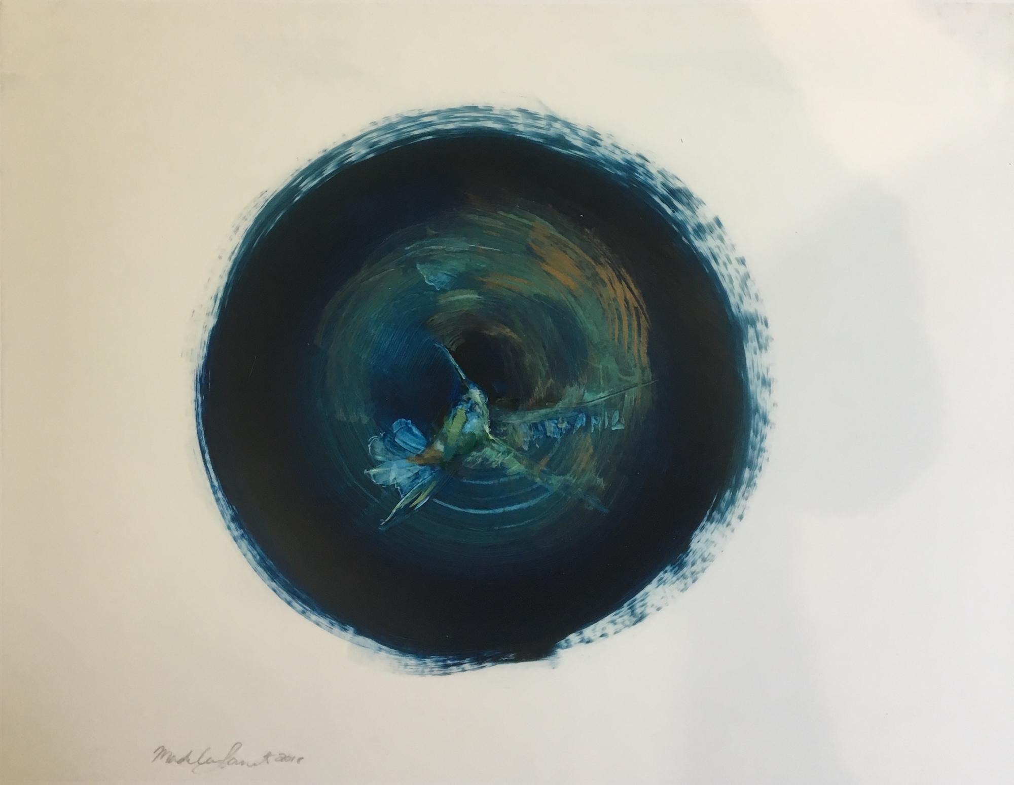 Hummingbird - Blue  by Madeleine Lamont
