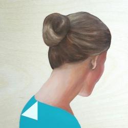 Marina  Nazarova - Lady in Light Blue Shirt