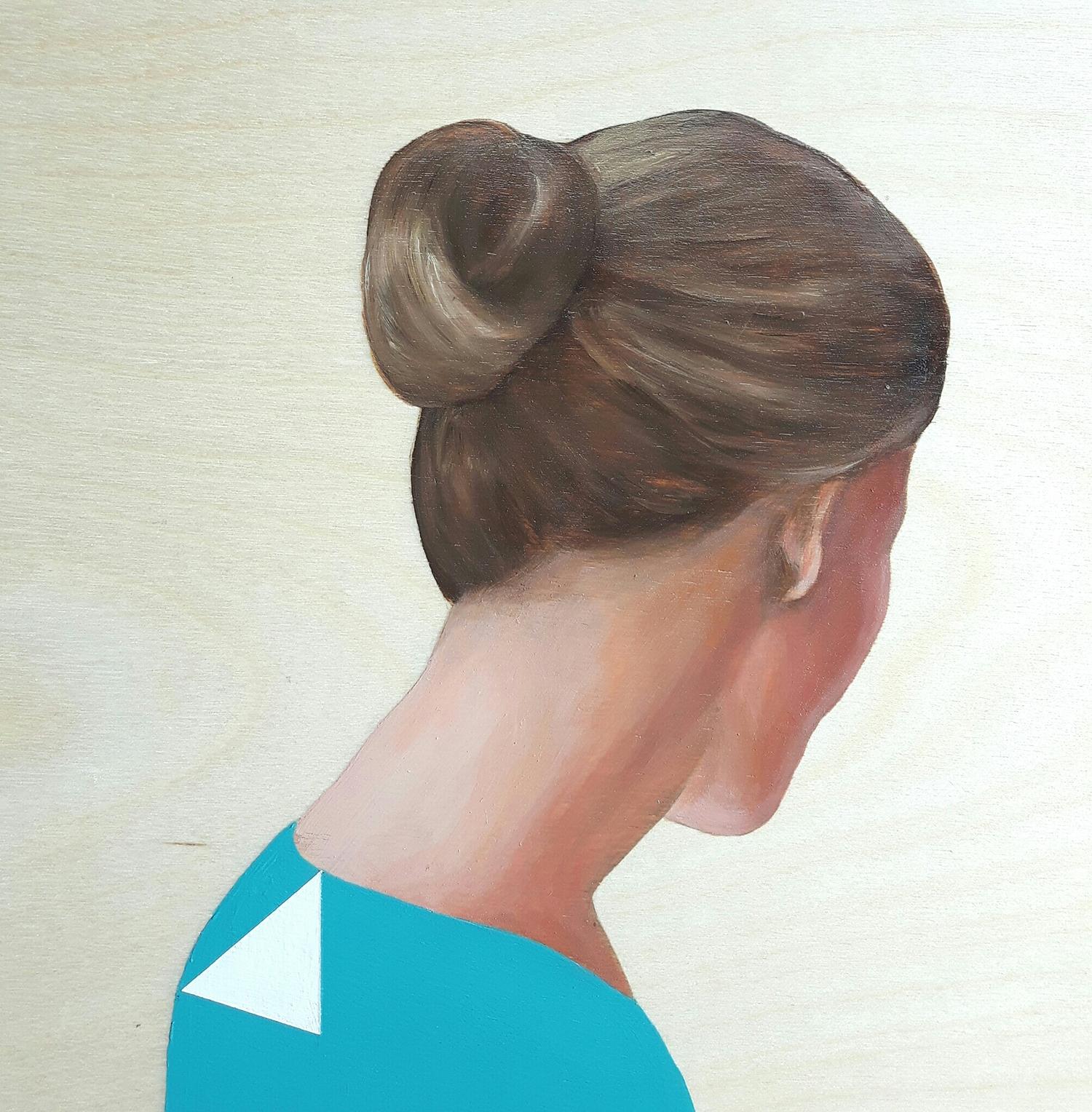 Lady in Light Blue Shirt by Marina  Nazarova