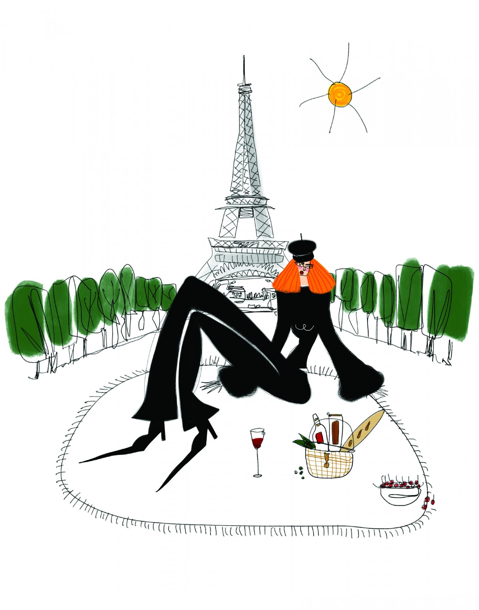 Parisian Picnic  by Annie  Naranian