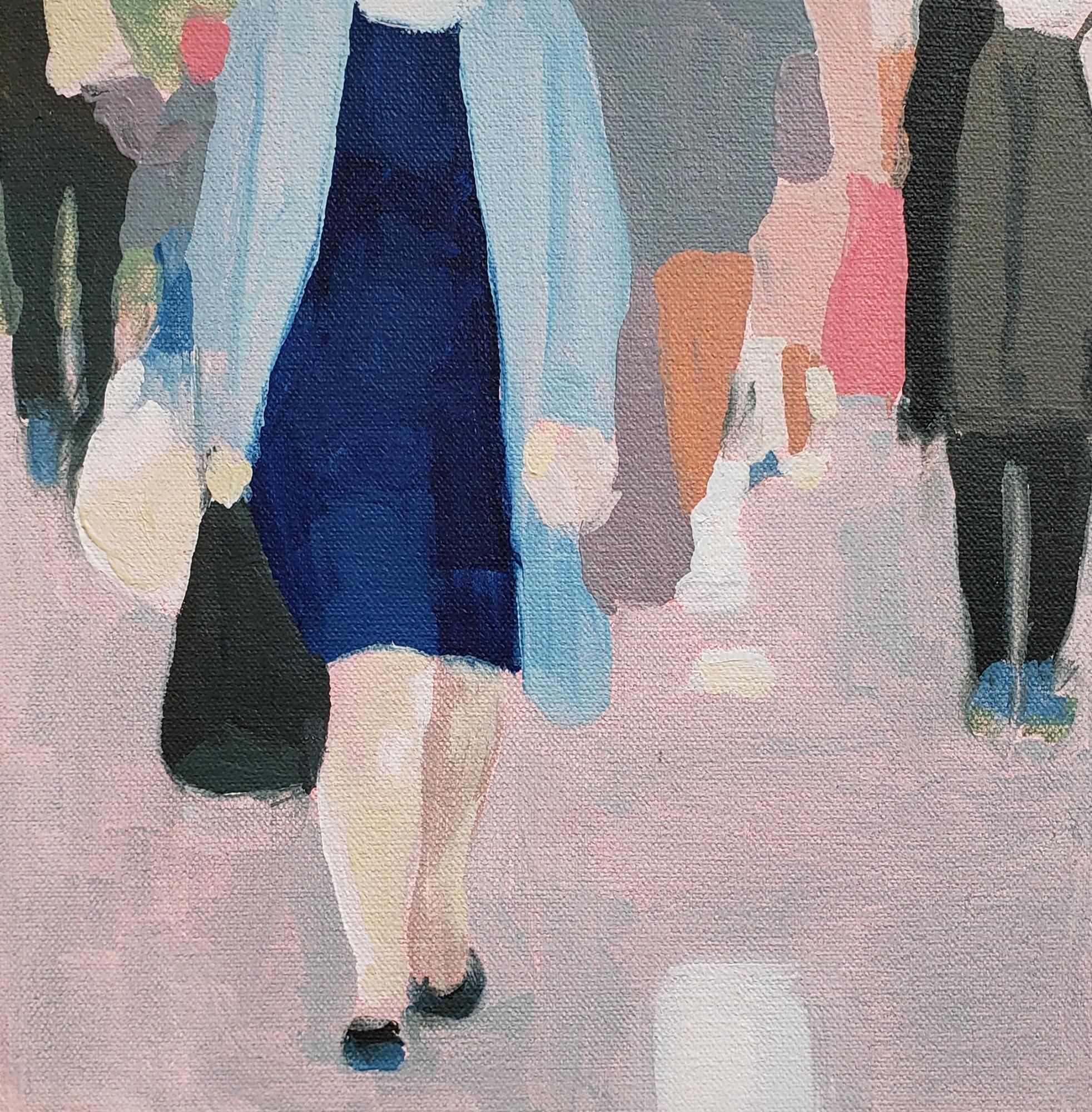 Pedestrians on Broadway by Sherry  Czekus