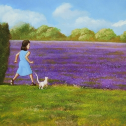 Michael Harris - A Field of Purple Flowers