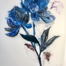 Madeleine Lamont - Deep Blue Peony 1
