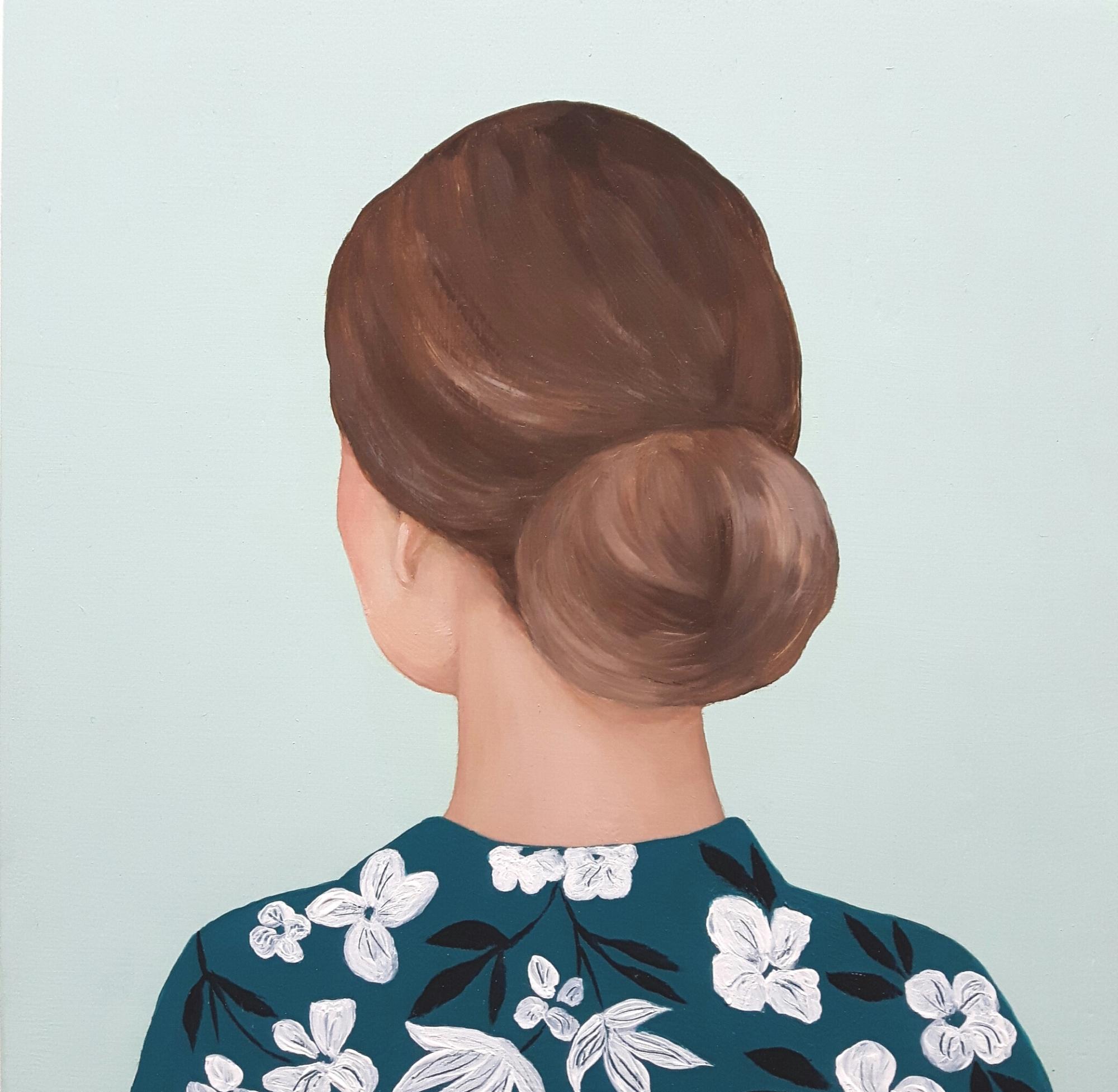Girl in Flowery Shirt by Marina  Nazarova