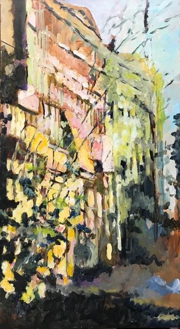 Rising Tree Trunks  by Masood Omer