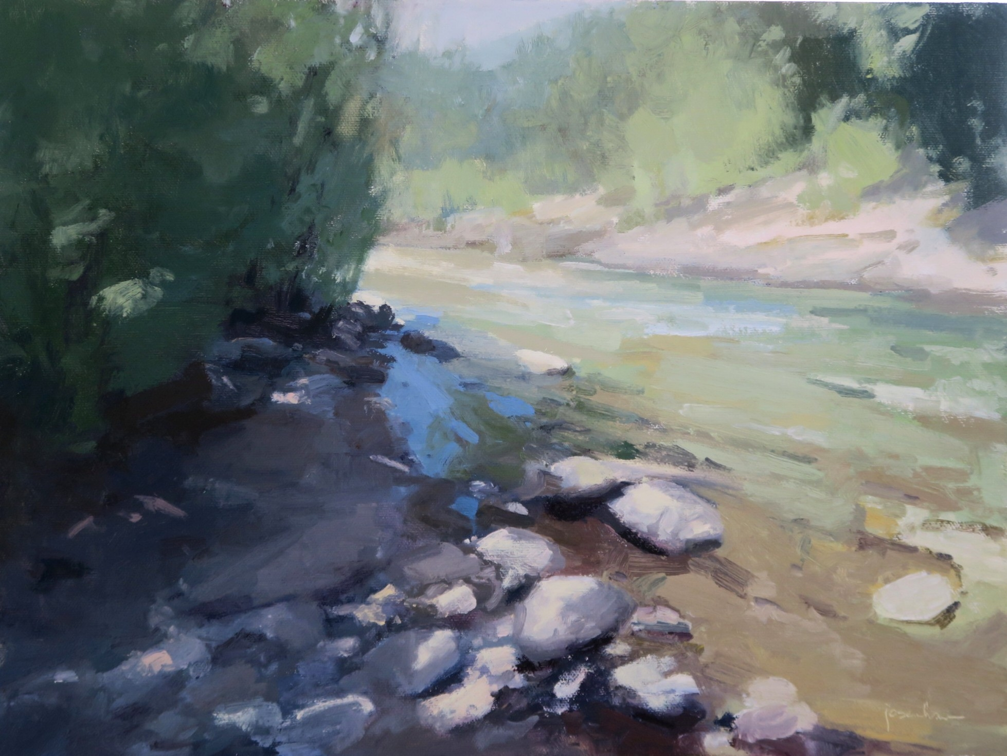 Brilliant Bend in the River  by Maria  Josenhans