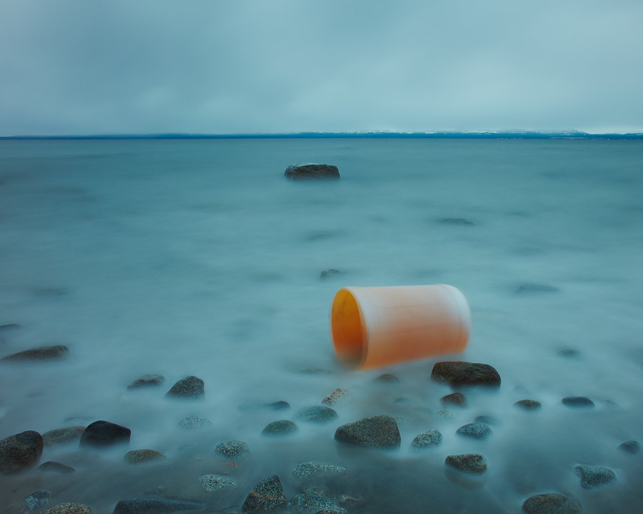 Unknown Entities - Traces of Warmth Still Fading, Orange Barrel  by David Ellingsen