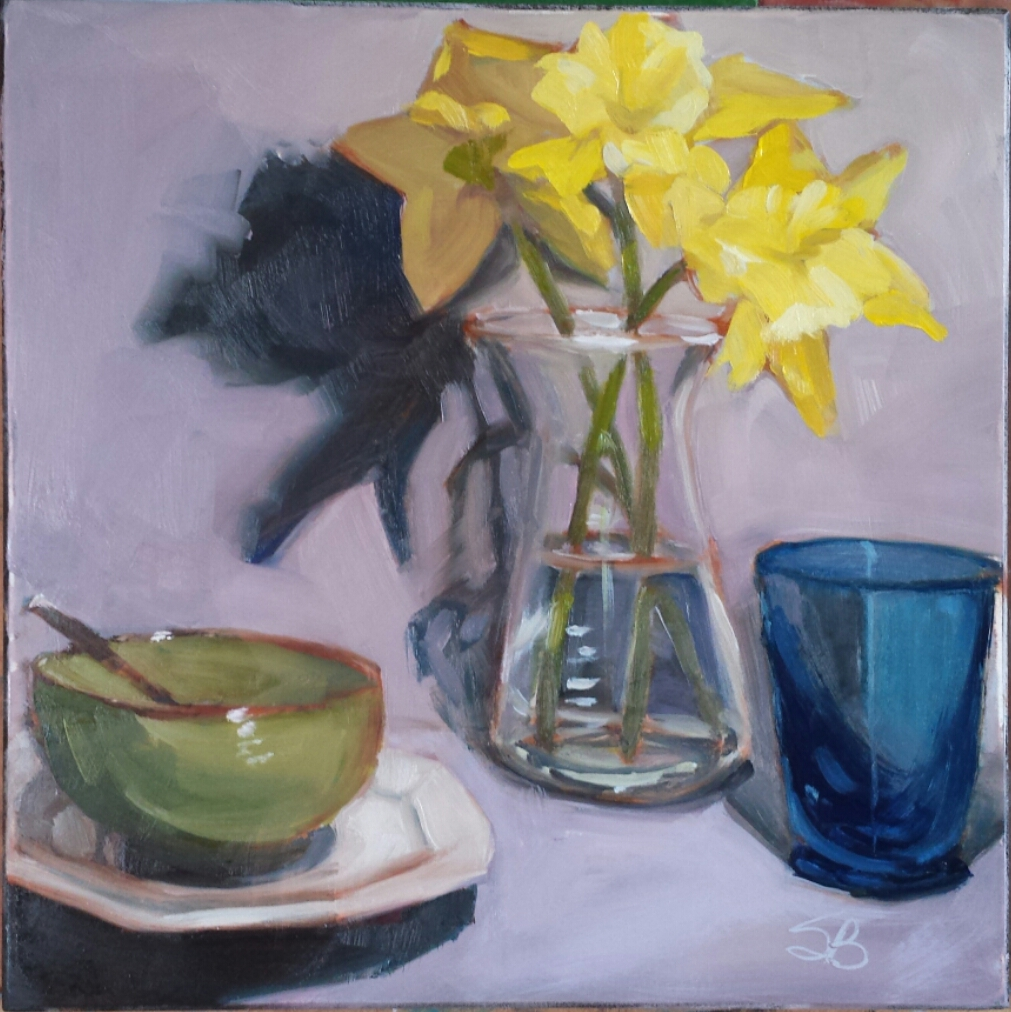 Daffodils 1  by Sonja  Brown