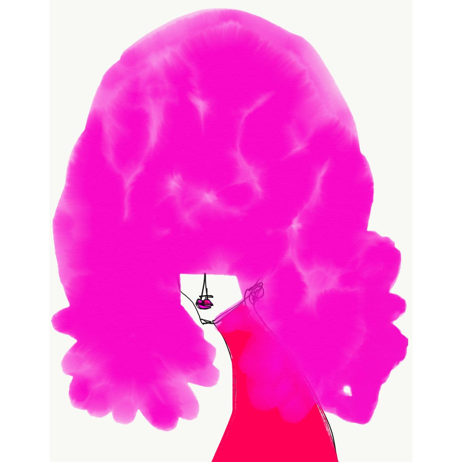 Cheveux Rose by Annie  Naranian