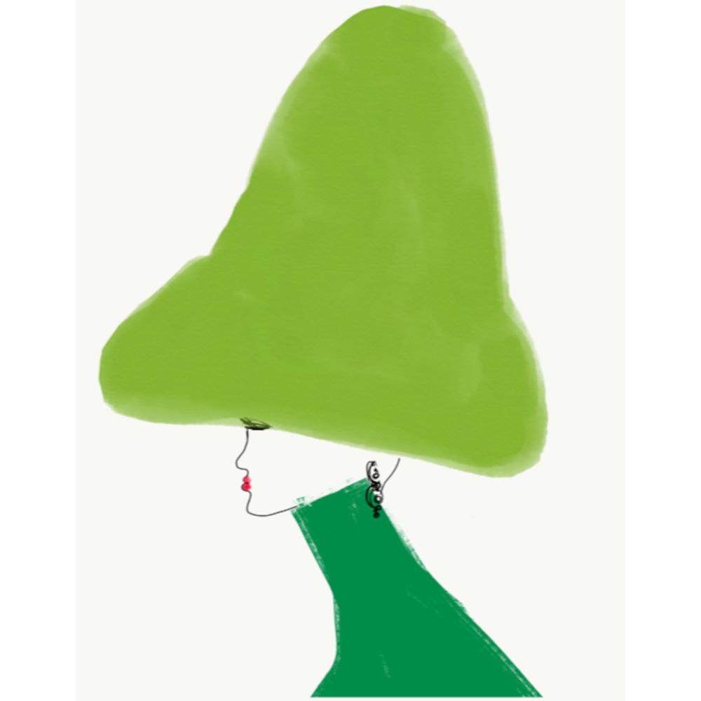 Chapeau Beau Vert by Annie  Naranian