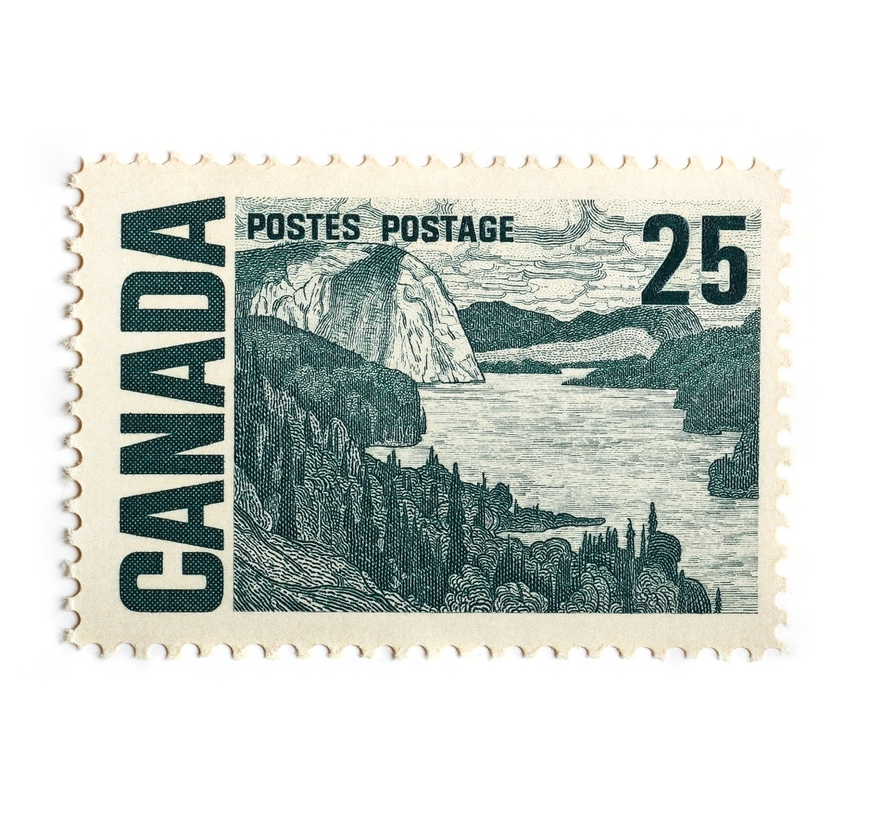 Canada Stamp 25  Cents by Peter Andrew