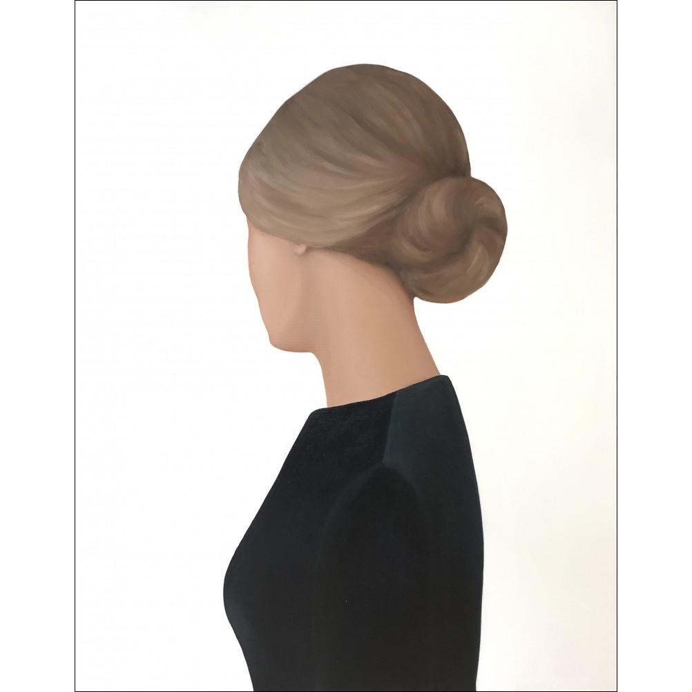 Lady in a Dark Blue Blouse by Marina  Nazarova