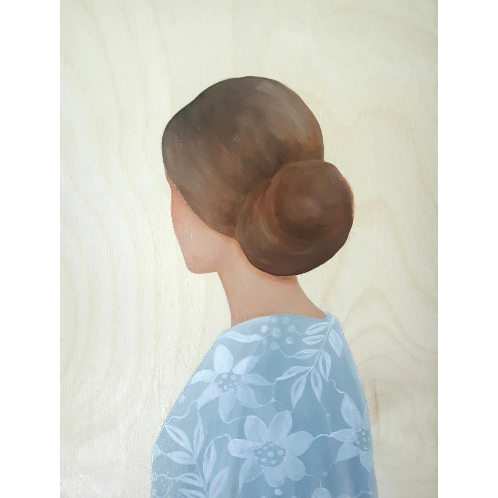 Lady in Light Blue Blouse by Marina  Nazarova