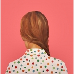 Marina  Nazarova - Lady in Polka Dots Shirt