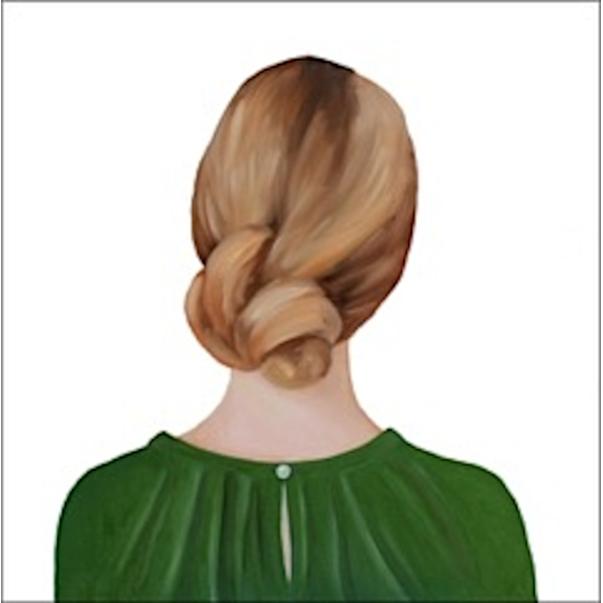 Girl in the Green Blouse  by Marina  Nazarova