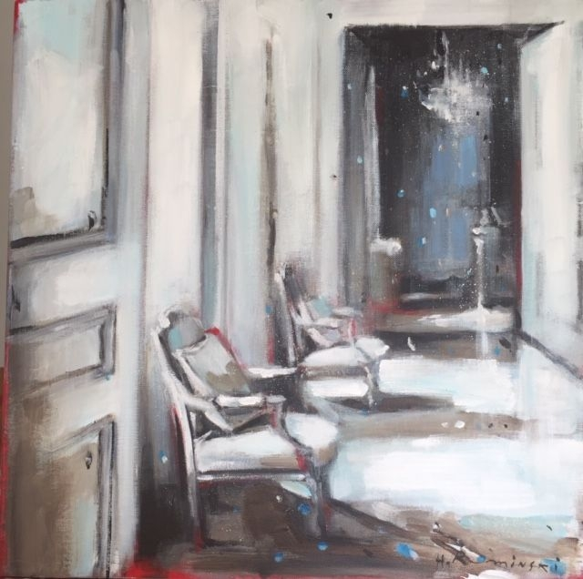 Parisian Apartment in White 3 by Hanna Ruminski