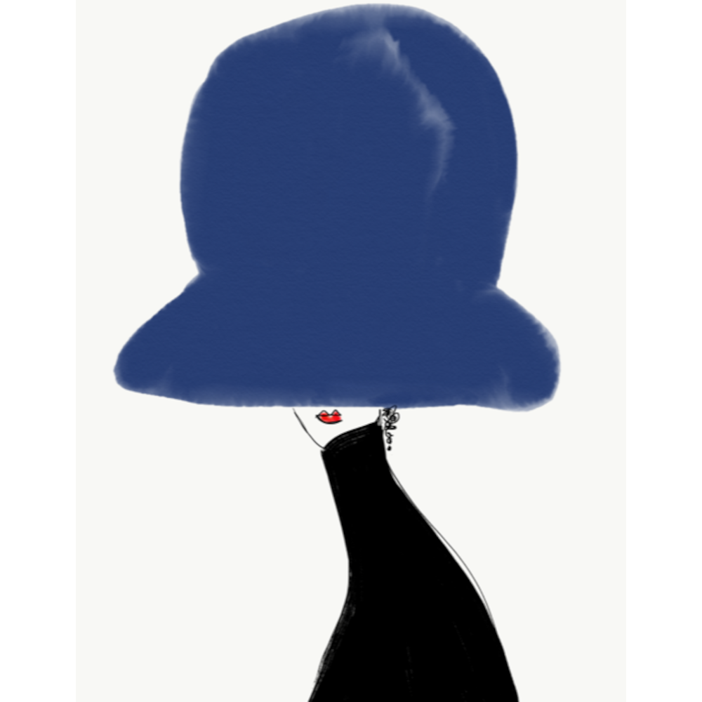Chapeau Noir et Bleu by Annie  Naranian