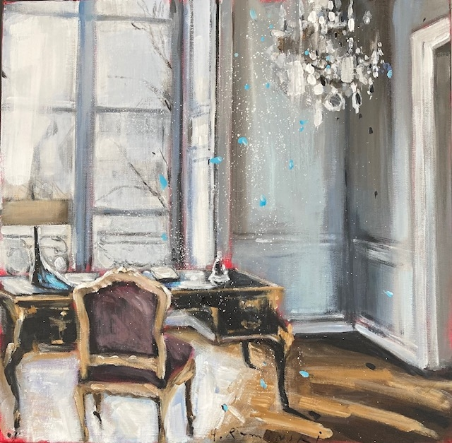 Parisian Apartment in White IV by Hanna Ruminski