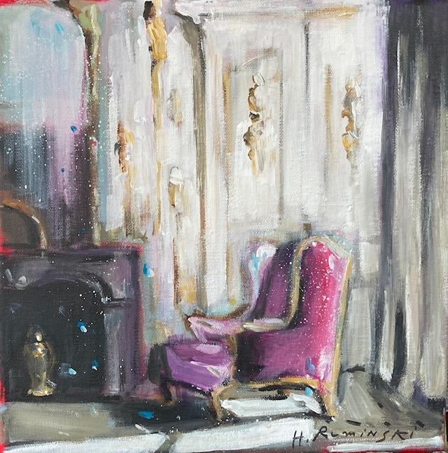Armchair in Rose by Hanna Ruminski