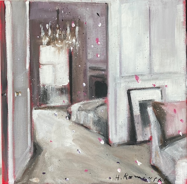 Parisian Apartment in Mauve by Hanna Ruminski
