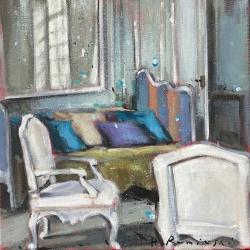 Hanna Ruminski - Parisian Apartment with White Armchairs