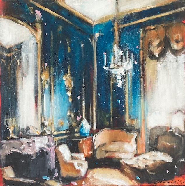 Chateau Interior with Settee by Hanna Ruminski