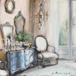 Hanna Ruminski - Interior With the Blue Commode
